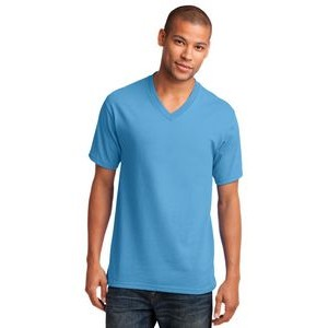 Port & Company® Men's Core Cotton V-Neck T-Shirt