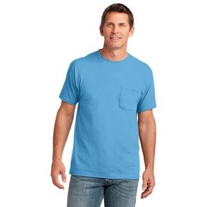 Port & Company® Men's Core Cotton Pocket T-Shirt