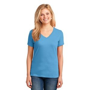 Port & Company® Ladies' Core Cotton V-Neck T-Shirt