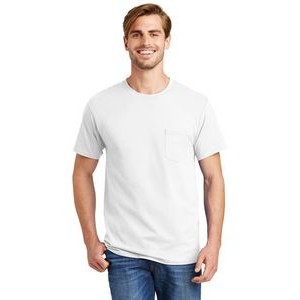 Hanes® Men's Tagless® 100% Cotton T-Shirt w/Pocket
