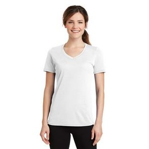 Port & Company® Ladies' Performance Blended V-Neck Tee Shirt
