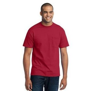Port & Company® Tall 50/50 Cotton/ Poly T-Shirt with Pocket
