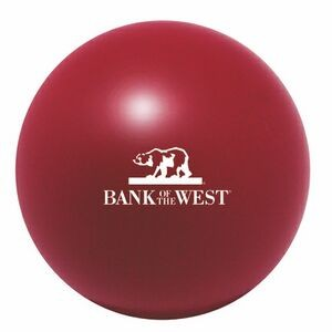 Burgundy Squeezies® Stress Reliever Ball