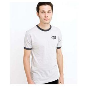 American Apparel Fine Jersey Short Sleeve Ringer T Shirt S-2x