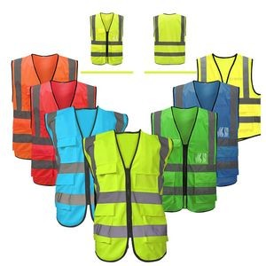 Reflective Safety Vest With Reflective Strips