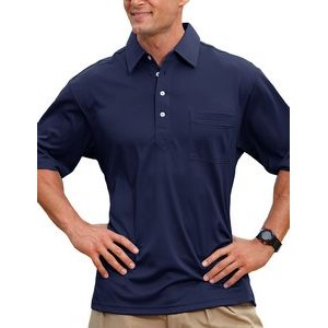 Men's Members Only Ottoman Solid Polo Shirt