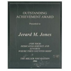 "Pure Marble Plaque w/Laser Engraving (8""x10"")"