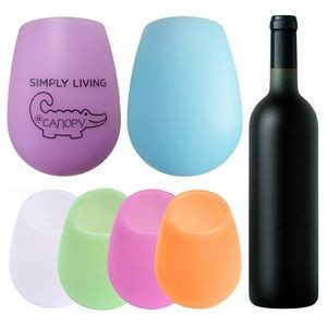 Silicone Wine Glasses Unbreakable Outdoor Wine Cups 12 oz