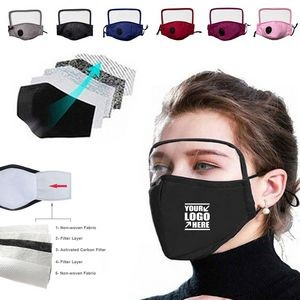 Breathable Vent Filter Mask With Goggles Visor