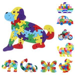 New DIY Kids Wooden 3D Animal Puzzle Educational Toys