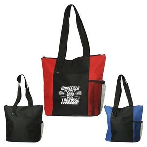 Bags - Fun Zippered Business Tote Bag with Pockets