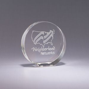 Stand-Up Crystal Paperweight