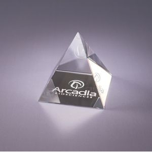 Pyramid Crystal Paperweight