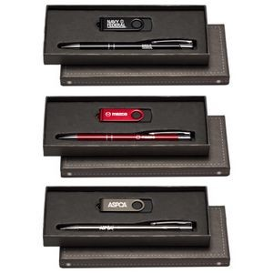 Tres-Chic Stylus Pen & 8 GB Flash Drive Gift Set
