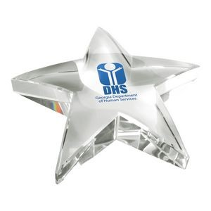 Optical Crystal Star Paperweight Trophy Award