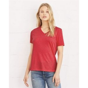 Bella+Canvas® Ladies' Relaxed Short Sleeve Jersey V-Neck T-Shirt