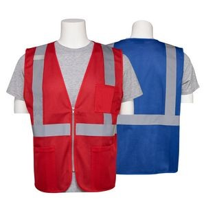 Aware Wear® S363P ANSI Class 2 Economy High Visibility Safety Mesh Vest w/ Pockets