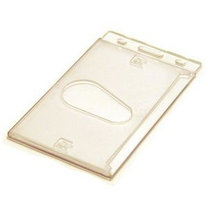 Blank Stock Hard Plastic Card Holder/ Portrait