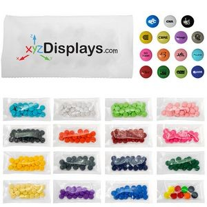 1/2 Oz. 4 Color Bag of Printed Candy w/M-Fill