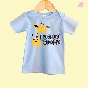The Laughing Giraffe® Baby Pastel Short Sleeve Lap T-Shirt w/Envelope Neck