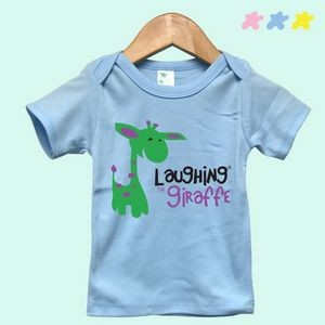 The Laughing Giraffe® Baby Pastel Short Sleeve Lap T-Shirt