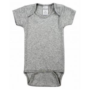 Heather Grey Short Sleeve Onezie