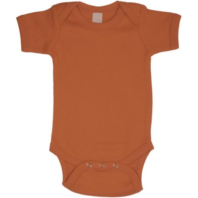 Short Sleeve Orange One Piece Bodysuit