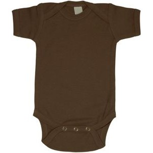 Brown Short Sleeve Onezie