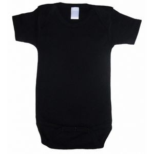 Black Interlock Short Sleeve Onezie