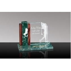 LINKS: Glass Desk Award w/Lady Golfer