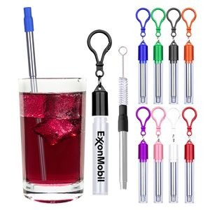 Stainless Steel Straw Reusable Travel Kit