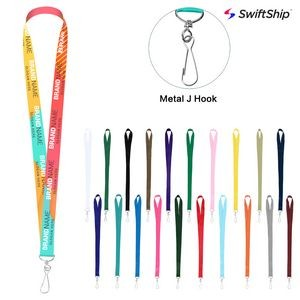 "3/4"" Full Color Dye-Sublimated Lanyard w/Metal J Hook"
