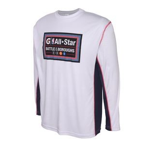 Two-Tone Long Sleeve Performance T-Shirt
