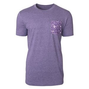 Men's Soft Style Tee with Customizable Pocket