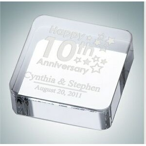 Square Optical Crystal Paper Weight