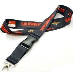3/4'' Dye Sublimation Lanyard w/Buckle Release