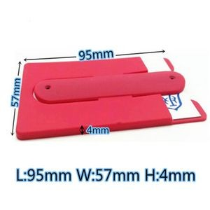 Silicone Phone Wallet Kickstand sleeve with cord organizer