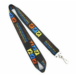 "1"" Dye-Sublimation Lanyards (25 Mil)"