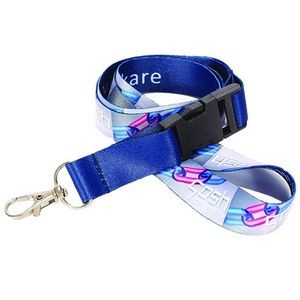 1'' Dye Sublimation Lanyard w/Buckle Release
